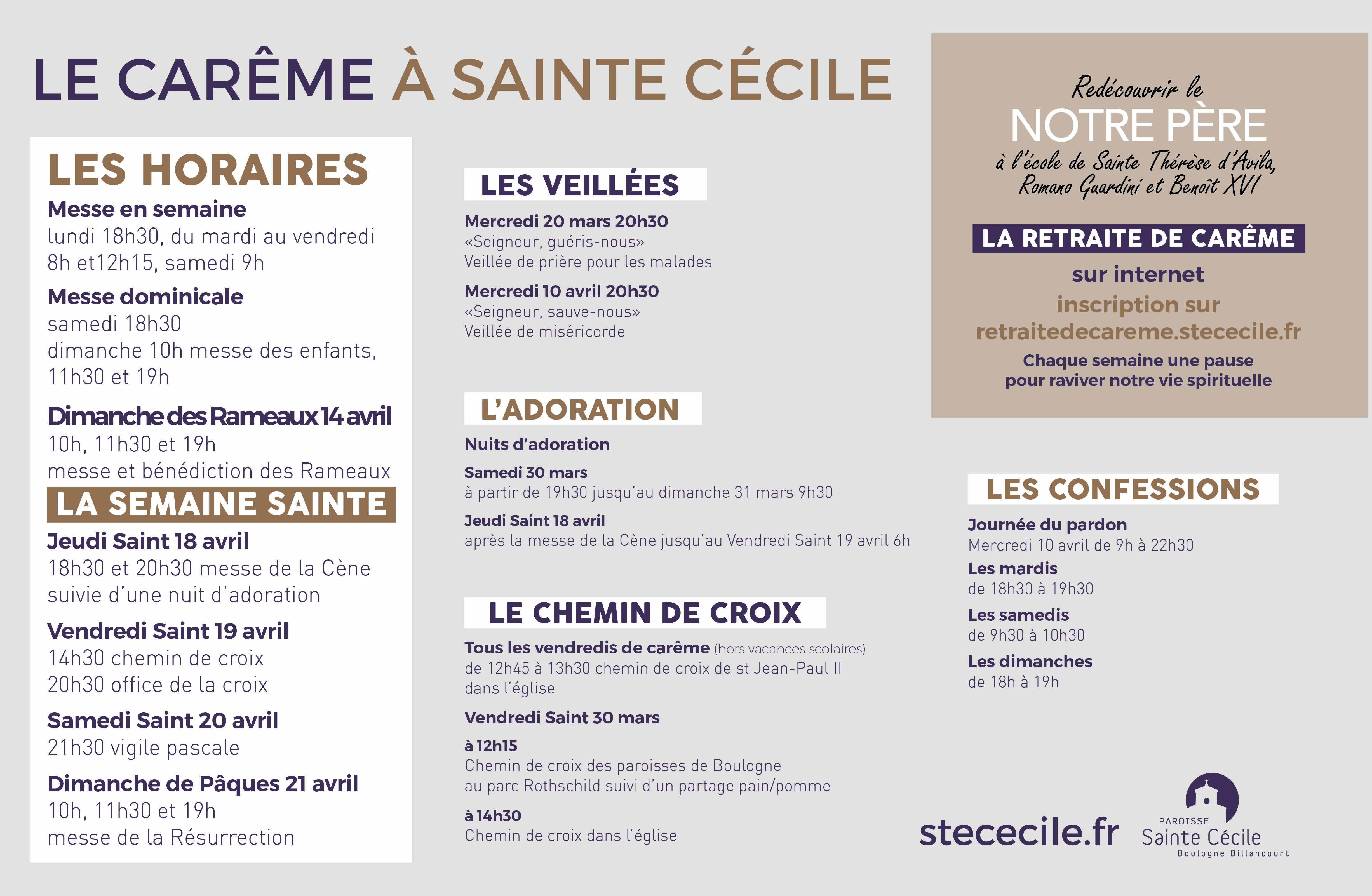 Carême 2019 à Sainte Cécile de Boulogne